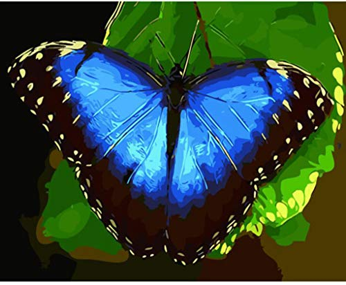 Jigsaw Puzzles 1000 Piece Wooden Puzzle DIY Blue Butterfly Modern Home Game Toy Home Decoration Art ()