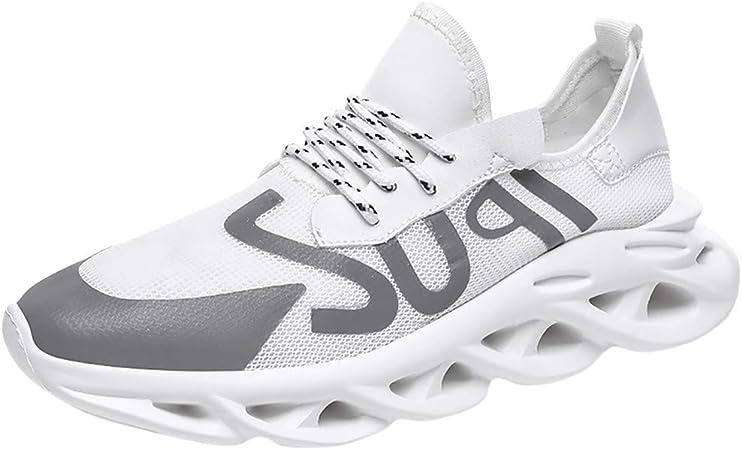 SHE.White - Zapatillas de deporte para hombre con malla ...