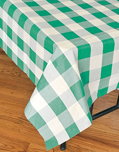 ( Disposable Plaid Tablecloth (108