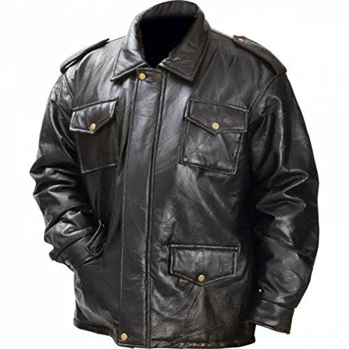 BNFUSA GFFJL Italian Stone Design Genuine Leather Field Jacket - Large