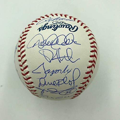 (2012 NY Yankees Team Signed Baseball Derek Jeter Mariano Rivera Arod Steiner COA)