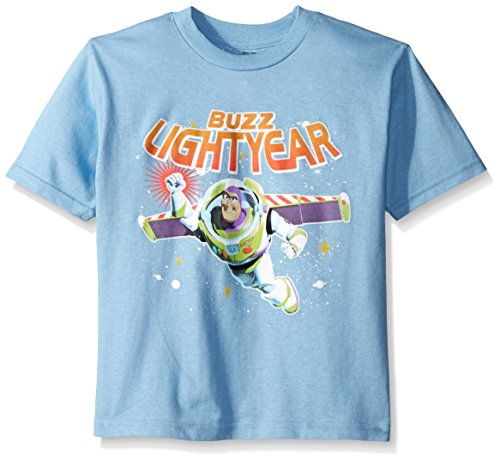 Disney Boys' Little Boys' Toy Story to the Rescue T-Shirt, Light Blue, Small/4 (Toy Story Shirts)