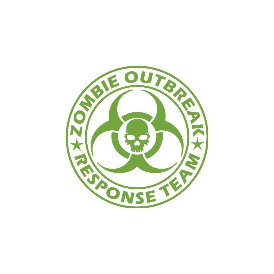 Zombie Outbreak Response Team NEW DESIGN Die Cut Vinyl Decal Sticker 5 Lime