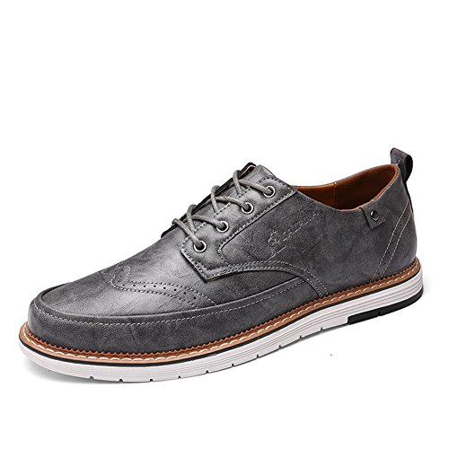 Pure Shoe PU Brown Business Scarpe lavoro XUE Scarpe Grey Bianco Lace D up da Estate Pure Business Black Pure formale Casual uomo leggero Traspirante Primavera wt0x1