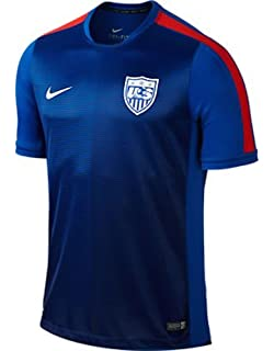 5cb0d8d308a NIKE Men's USA Squad 2015 Prematch 2 Game Royal/University Red/White Jersey