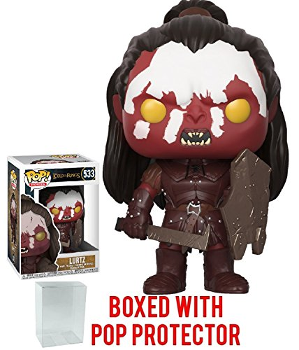 Funko Pop! Movies: The Lord of the Rings - Lurtz Vinyl Figure (Bundled with Pop Box Protector Case) (The Of Lurtz Lord Rings)