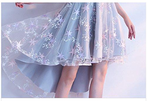 17457b958eb81 ステージ前短く星柄かわいいハイネック半袖結婚式コンサートパーティードレス 二次会演奏会