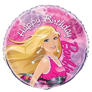 "Happy Birthday Barbie Foil Balloon, 18"""