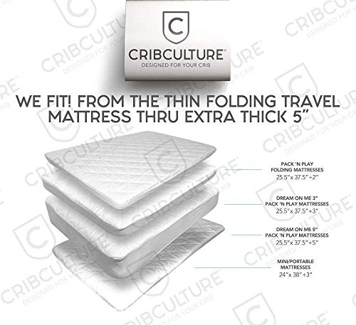 pack n play mattress pad cover protector fitted baby playard crib quilted padded mattress. Black Bedroom Furniture Sets. Home Design Ideas