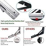 Folding Shelf Brackets 12 Inch, Heavy Duty