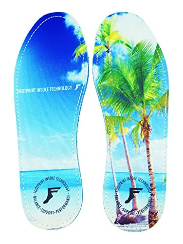 Price comparison product image Footprint Insole Technology High Profile Kingfoam Insoles Beach Graphic, 8/8.5