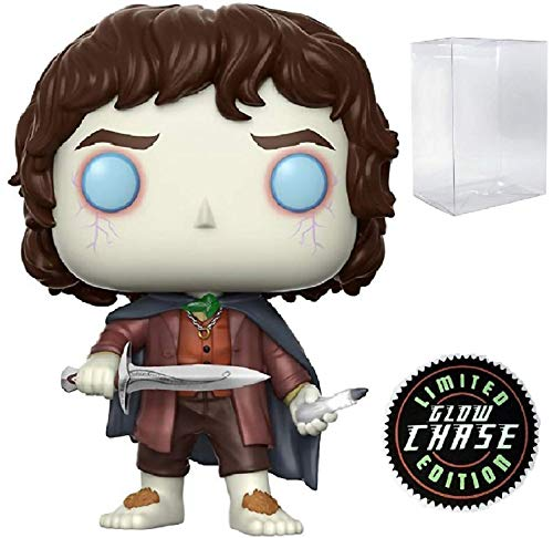 Funko Movies: The Lord of The Rings - Frodo Baggins Limited Edition Chase Pop! Vinyl Figure (Includes Compatible Pop Box Protector Case)]()