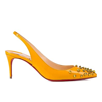 the latest 5d330 4ca7a Amazon.com | Christian Louboutin Women's 3180437Y131 Yellow ...