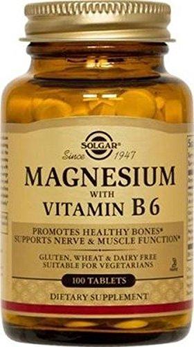 Magnesio + B6 100 comprimidos de Solgar