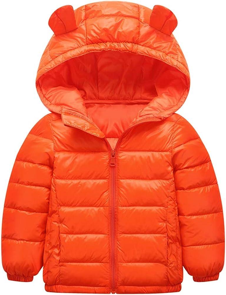 Yanlian Baby Boys Girls Winter Hooded Jacket Down Coat Warm Waterproof Lightweight Tops Outfits