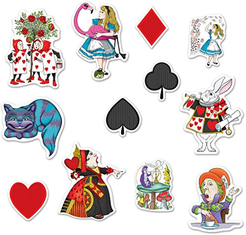 Beistle Alice in Wonderland Cutouts Multicolored -