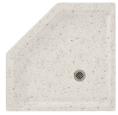 (Swanstone SS-36NEO-050 Solid Surface Neo-angle Shower Base, 36-Inch by 36-Inch by 5-1/2-Inch, Tahiti Desert)