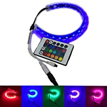 IKSACE Full color Computer car vehicle RGB 5050 SMD 18pcs leds 30cm LED Strip Light with magnets IP65 water proof with Multi Function IR Remote Controller for Desktop PC Computer Case