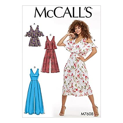 eac034272813 Amazon.com  McCalls Ladies Easy Sewing Pattern 7608 Fitted
