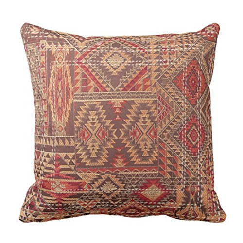 - Emvency Throw Pillow Cover Western Tribal Inspired Brown Hue Southwest Decorative Pillow Case Home Decor Square 20 x 20 Inch Pillowcase