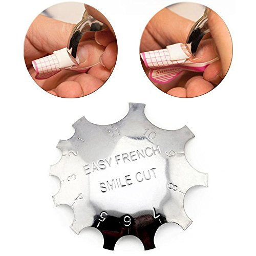 Nail Perfect French (Miswilsi Beauty Metal Easy French Line Edge Trimmer False Nails Form Template Nail Smile Cutter)
