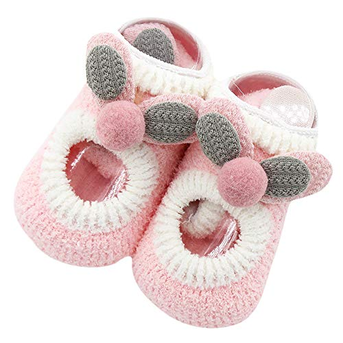 Newborn Baby Boys Girls Cartoon Ears Floor Socks Anti-Slip Baby Step Socks