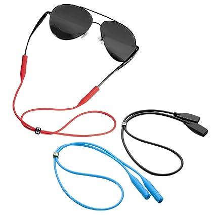 Amazon.com: Retenedor de gafas [3 unidades] correa de gafas ...