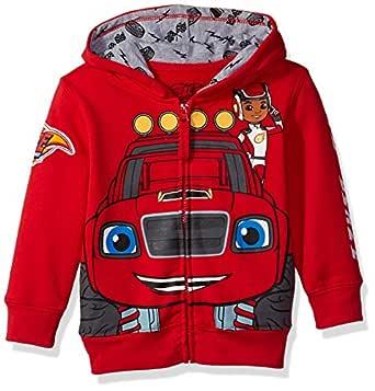 Nickelodeon Boys Blaze and The Monster Machines Lets Blaze Hoodie Hooded Sweatshirt - red - 2T