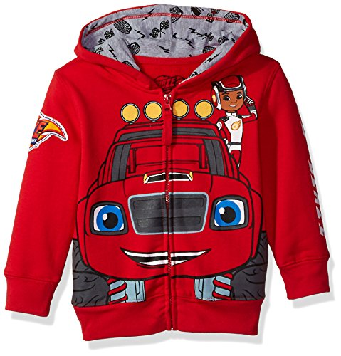 Nickelodeon Toddler Boys Monster Machines Lets Blaze Hoodie  Red  4T