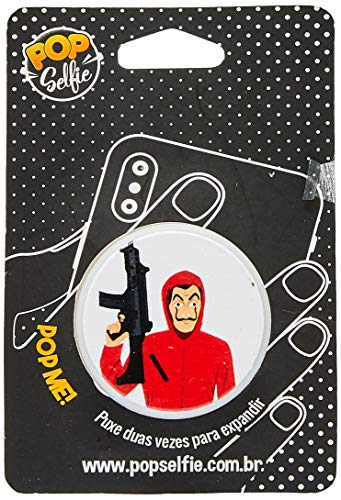 Apoio para celular - Pop Selfie - Original la Casa de Papel Ps225, Pop Selfie, 151452, Branco
