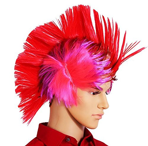 Dazzling Toys Massive Wiggling Punk Red and Colored Wig -