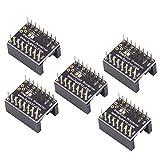 3D Printer Motherboard Accessories, FYSETC Silent Stepper Motor Driver Parts Protects Away Grain Filter Jutter Elimination for 3D Printer A4988 LV8729 DRV8825 TMC2100 TMC2208 TMC2130 Driver - 5 Pcs