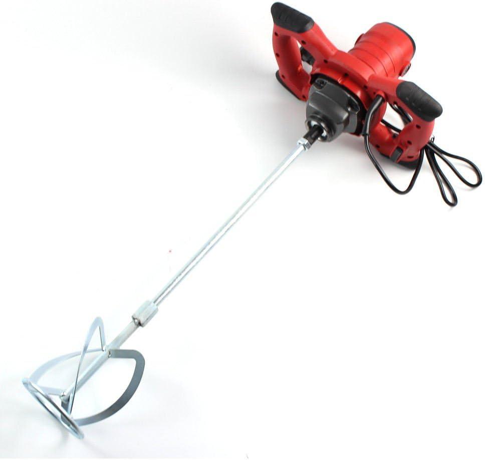 Agitador, 1500 W, mezclador de hormigón con cuchilla de rosca, batidora de 22.63 pulgadas
