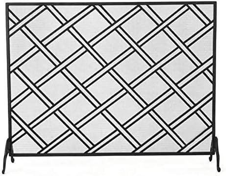 暖炉スクリーン ダイヤモンド格子、北欧リビングルーム暖炉スクリーン、プロテクター子供保育園火災安全の画面で単一のパネル暖炉スクリーン (Color : Style2)