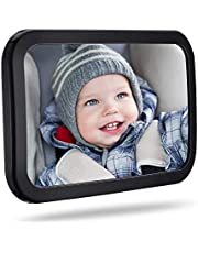 Baby Car Mirror, Car Seat Mirror for Rear Facing with Wide View, Shatterproof, Fully Assembled, Crash Tested and Certified for Safety