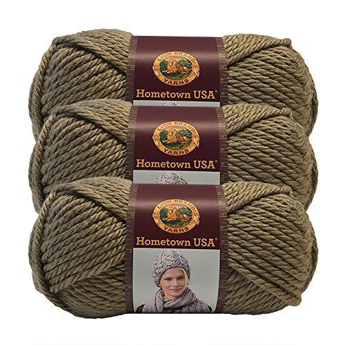 ((3 Pack) Lion Brand Yarn 135-123Y Hometown USA Yarn, Hoboken Honey)