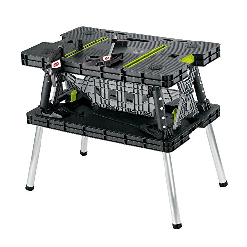 Keter Compact Portable Folding Garage Workbench Work Tabl...