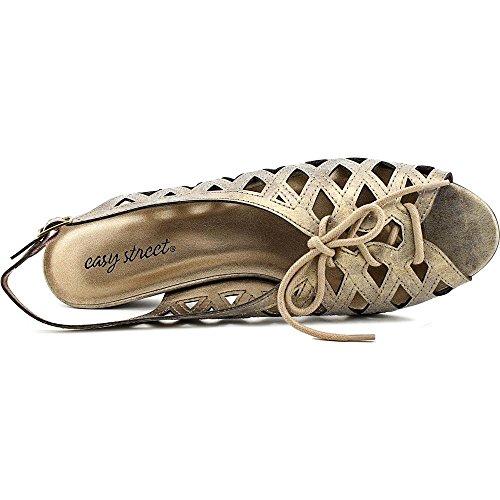 Easy Street Tinker Damen US 9.5 Metallische Slingback Sandale