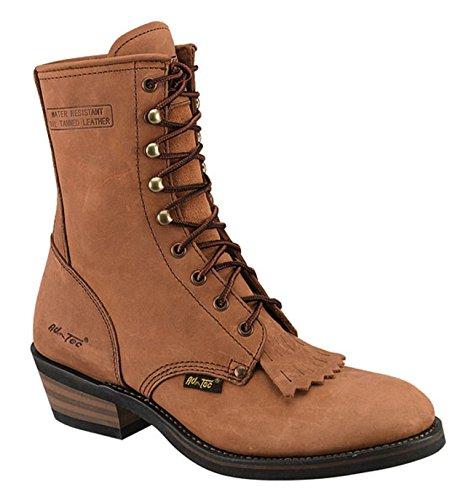 AdTec Women's 8 Inch Packer TN Work Boot, Tan, 8 M US