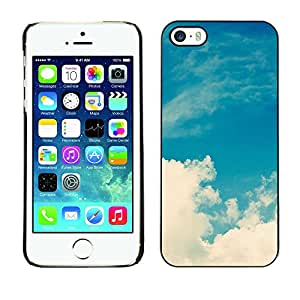 rígido protector delgado Shell Prima Delgada Casa Carcasa Funda Case Bandera Cover Armor para Apple Iphone 5 / 5S /White Clouds Nature Sky God/ STRONG