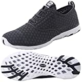 Dreamcity Men's Water Shoes Athletic Sport Lightweight Walking Shoes Darkgrey