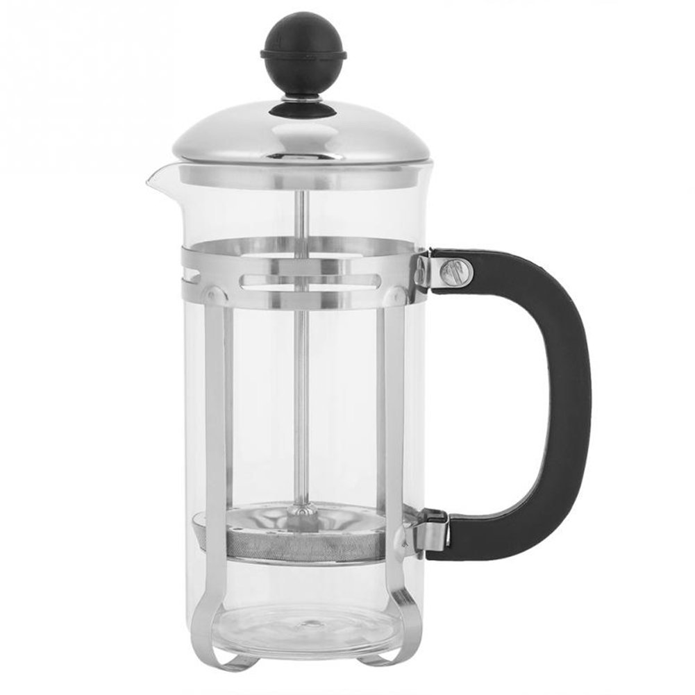 350ml Stainless Steel Glass Hollow Cafetiere French Filter Tea Coffee Pot Press Plunger Secologo