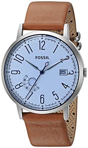Fossil Women's ES3975 Vintage Muse Three-Hand Date Dark Brown Leather Watch