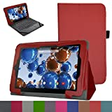 """RCA 10 Viking Pro 10.1 Case,Mama Mouth PU Leather Folio 2-folding Stand Cover with Stylus Holder for 10.1"""" RCA 10 Viking Pro Tablet,Red"""