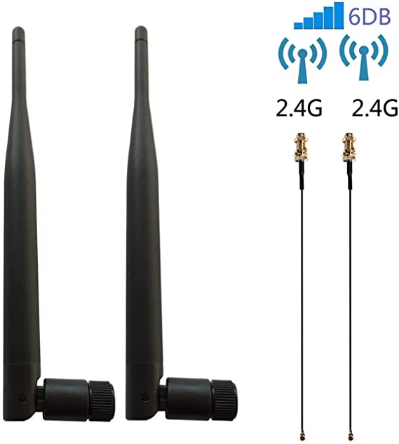 10-Pack Dual Band 2.4GHz 5GHz 6dBi RP-SMA Antenna for WiFi Extender Booster AP