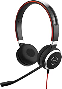Jabra Evolve 40 UC Professional Wired Headset, Stereo – Telephone Headset for Greater Productivity, Superior Sound for Calls and Music, 3.5mm Jack/USB Connection, All-Day Comfort Design, UC Optimized