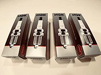 Four NGK Replacement Single Electrode Spark Plugs Compatible with Classic Boxer BMW R Airhead Motorcycle BP6HS