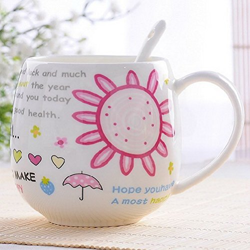 Double Wall Insulated Espresso Creative Mug Ceramic Cup Couple Cups Cute Bone China Cup Coffee Cup Milk Cup Cup Sun Flower Q Cup Ufcell