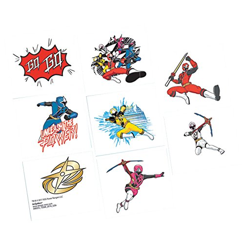 Shindigz Power Rangers Ninja Steel Tattoos