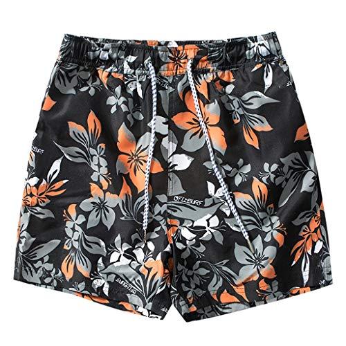 Corta Pantaloni Stampa Pantaloncini Veloce Coulisse Nero Vacanza Spiaggia Asciutta Uomini Amlaiworld Moda Sport Estive Z7FYPw